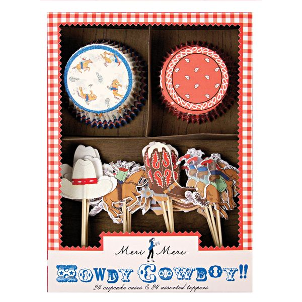 Cowboy,Cup cake kit, 24 kpl ryhmässä OUTLET / Outlet @ Calligraphen Oy (30686)