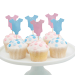Little Lady tai Mini Mister, cupcake koristeet, 12 kpl