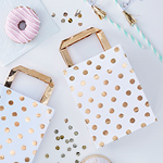 Party Bags - Gold Spots , 5 kpl
