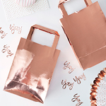 Party Bags - ruusukulta, 5 kpl