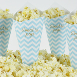 Pop Corn tötterö, Baby Shower, Chevron Divine Blue