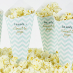Pop Corn tötterö, omilla painatuksilla, Baby Shower, Chevron Divine Mint