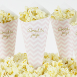 Pop Corn tötterö, Baby Shower, Chevron Divine Rosa
