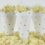 Pop Corn tötterö, Baby Shower, Pilkut, monivärinen