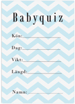 Baby visa, 10-kpl, Baby Shower, Chevron Divine Blue