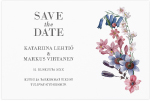 Dazzling Flowers, save the date -kortti