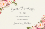 Delightful Love, Save the date-kortti