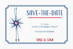 Happy by the sea, save the date -kortti