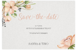 Romantic Elegance, save the date -kortti