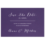 Lilac, save the date-kortti