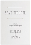Great Gatsby, save the date -kortti