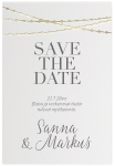 Decoration, save the date -kortti