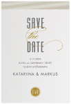 Stylish, save the date -kortti