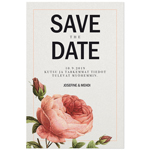 Rose Sauvage save the date -kortti