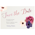 Fleurs Aquarelle, save the date -kortti