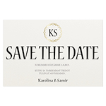 Chaïne Monogramme, save the date -kortti