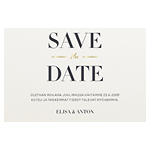 Modern Stripes save the date -kortti