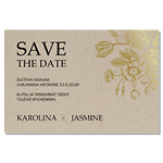 Rustique d'or, Save the date-kortti