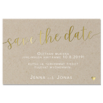 Rustic Love, Save the date-kortti