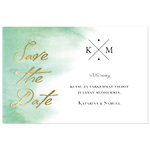 Emerald Elegance, save the date -kortti