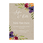 Bohemian Bouquet, save the date -kortti
