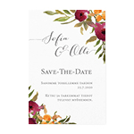 Happy Flowers, save the date -kortti