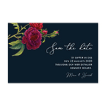 Blooming Red Roses , save the date -kortti