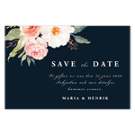 Blooming Pink Roses , save the date -kortti