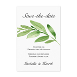 Save-the-date, Greenery Leaves
