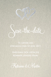 Two Hearts, kulta save the date -kortti