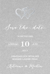 Two Hearts, hopea save the date -kortti