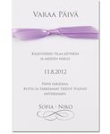 Violet Sparkle, save the date -kortti